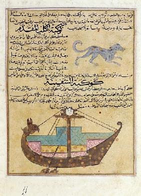 Ms E-7 fol.26b The Constellations of the Dog and the Keel, illustration from ''The Wonders of the Cr
