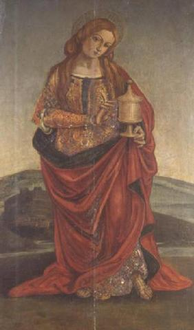 A Female Saint with a Chalice, possibly Mary Magdalene