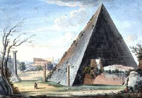 Pyramid tomb of Caius Cestus