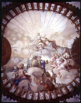 Triumph of the Empress Maria Theresa of Austria (1717-80) (ceiling painting)