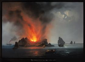 New Volcano Erupting from the Sea around Sicily in 1831
