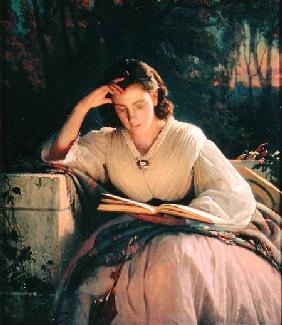 Kramskoi, Iwan Nikolajewitsch : Reading (portrait of the a...