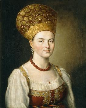 Peasant Woman in Russian Costume