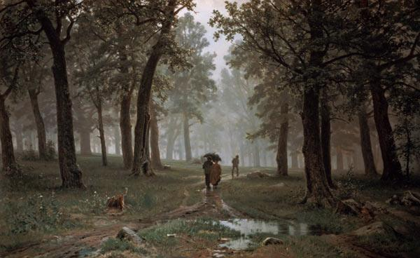 Schischkin, Iwan Iwanowitsch : Rain in the oakwood.