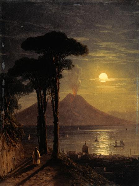 Vesuvius , Moonlit Night