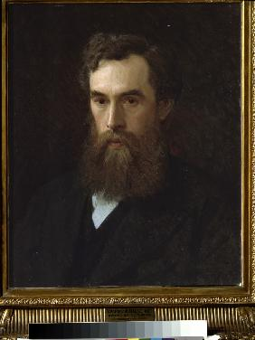 Portrait of the collector, patron and founder of the gallery Pavel Tretyakov (1832-1898)
