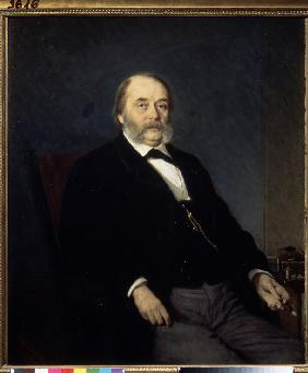 Portrait of the author Ivan Goncharov (1812-1891)