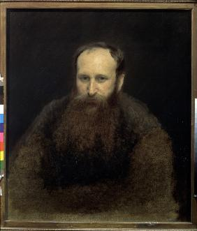 Kramskoi, Iwan Nikolajewitsch : Portrait of the artist Vas...