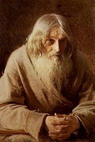Kramskoi, Iwan Nikolajewitsch : Portrait of an old Russian...