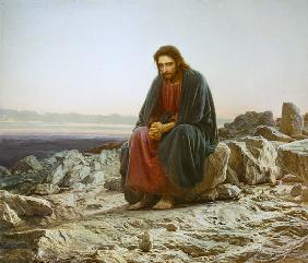 Kramskoi, Iwan Nikolajewitsch : Christ in the desert