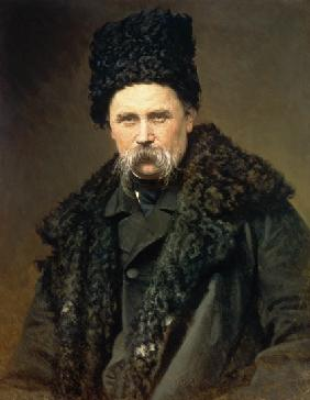 Portrait of the Ukranian Author Taras Grigorievich Shevchenko (1814-61)