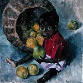 Fito, Twin Son of Abel, Haiti, 1961 (oil on board)