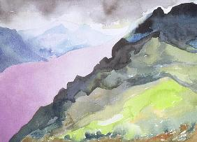 Loch Ness from Glendoe Lodge, 1995 (w/c on paper)