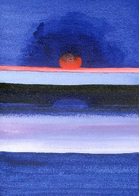 Seascape, Sunset, Helsinki, 1991 (acrylic on canvas)