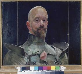Self-portrait in the armour