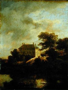 van Ruisdael, Jacob Isaacksz : Landscape with country hou...