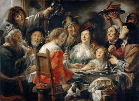 The King Drinks, or Family Meal on the Feast of Epiphany
