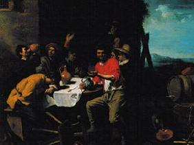 van Oost d.�., Jacob : Carousing society in front...