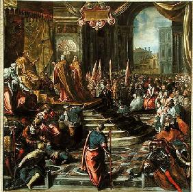 The Envoy of Pope Alexander III and Doge Sebastiano Ziani attempt to make peace with Emperor Frederi
