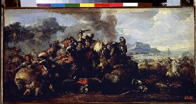 Combat between French and Spanish cavalries