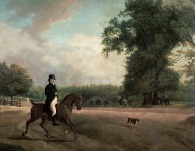 Agasse, Jacques-Laurent : George Luving on horseback