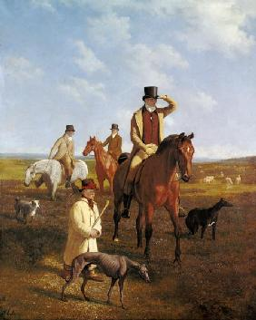 The portrait Lord Rivers to horse with his friends