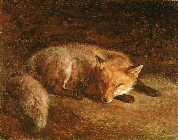 Agasse, Jacques-Laurent : Sleeping Fox