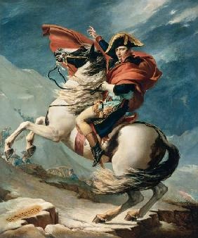 David, Jacques Louis : Napoleon Crossing the Alps...