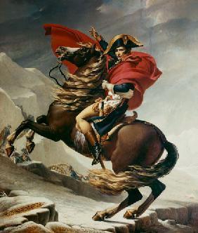 David, Jacques Louis : Napoleon Crossing the Alps