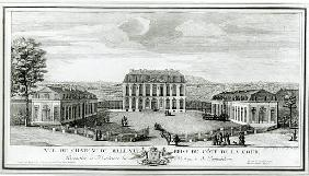 View of the Courtyard Facade of the Bellevue Castle, c.1750