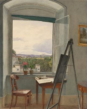 View from the Artist's Studio in Alservorstadt toward Dornbach