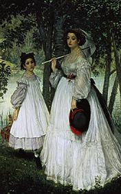 Portraits in the park (the sisters)