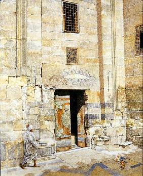 Doorway in Cairo, 1986 (oil on canvas)
