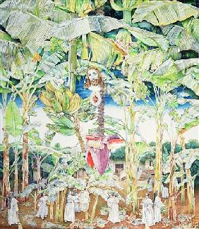 Miraculous Vision of Christ in the Banana Grove, 1989 (oil on canvas)