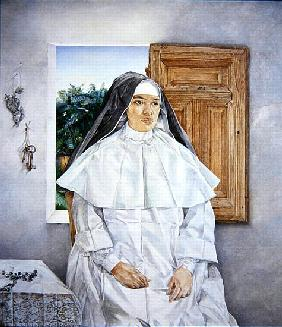 Portrait of Sister Nambo, 1990 (oil on canvas)
