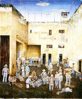 Prison Compound, 1986 (oil on canvas)