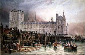Carmichael, James Wilson : The Houses of Parliament i...