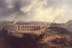 Carmichael, James Wilson : Rastrick's viaduct, London...