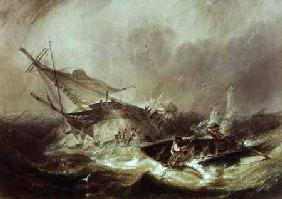 Carmichael, James Wilson : Rowing to rescue shipwreck...