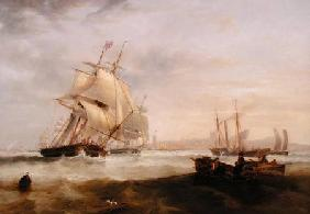 Carmichael, James Wilson : Shipping off Hartlepool