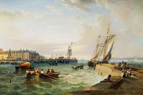 Carmichael, James Wilson : The Harbour at Hartlepool