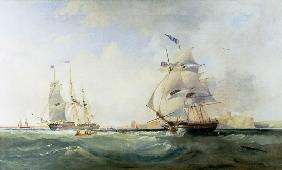 Carmichael, James Wilson : Whalers Entering the Tyne