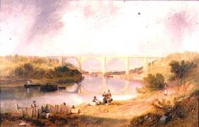 Carmichael, James Wilson : Victoria Bridge over the R...