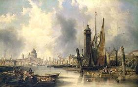 Carmichael, James Wilson : View of London with St. Pa...