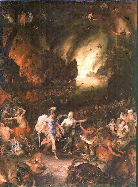 Aeneas In Hades Detail Jan Brueghel D 196 As Art Print