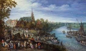 Brueghel d. �., Jan : Village at the river