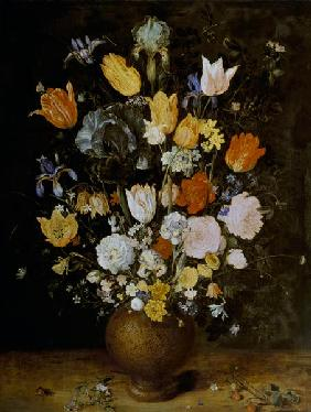 Brueghel d. �., Jan : Bouquet of flowers into cl...