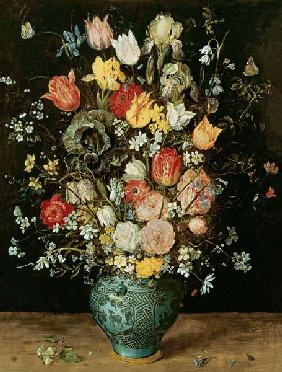 Brueghel d. �., Jan : Bouquet of flowers in a bl...