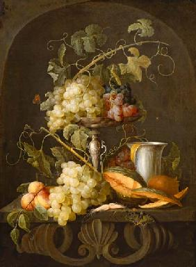 de Heem, Jan Davidsz : Quiet life with fruits