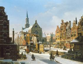 View on a Town in Winter